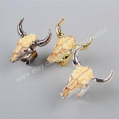 Wholesale Fashion Longhorn Resin Horn Cattle Rings Bull Cattle