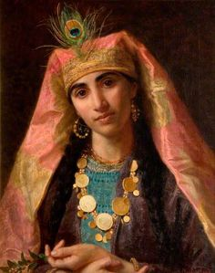 Scheherazade, by Sophie Anderson, née Gengembre (Paris 1823 – 10 March 1903 Falmouth): French-born British artist. specialised in genre painting of children and women in rural settings. ~Repinned Via Elsbeth Vorstenbosch