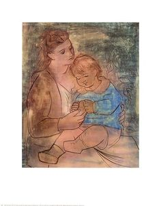 Pablo Picasso Mother and Child Fine Art Quality Finish Poster Print Home Decor Pablo Picasso Artwork, Picasso Prints, Kunst Picasso, Picasso Drawing, Picasso Paintings, Prado, Poster Prints, Art Prints, Posters