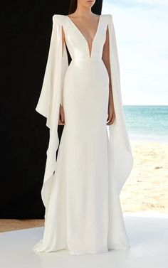 Fashion Evening Gowns Formal Dresses for Girl Maxi Dresses With Sleeves Fashion evening dresses evening dresses for girls maxi dresses with sleeves – inloveshe Best Formal Dresses, Sexy Wedding Dresses, Bridal Dresses, Bridesmaid Dresses, Lace Wedding, Wedding Dress Cape, Mermaid Wedding, Wedding Gowns, Popular Dresses