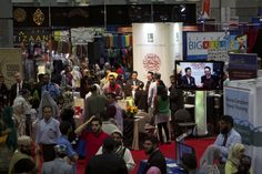 The view of Zaytuna College's booth at the 2013 ISNA convention in Washington D.C.