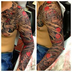 Will definitely be getting a Japanese style dragon tattoo like this to finish the sleeve. But I want a Tiger battling with the dragon too. #dragon #tattoos #tattoo