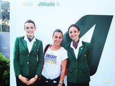 Flavia #Pennetta in visita al nostro stand presso il padiglione Alitalia agli Internazionali di Tennis BNL presso il Foro Italico di #Roma