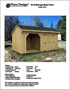 Dog House with Porch Plans Luxury 8 X 16 Firewood Storage Shed Project Plans Design Porch Plans, Diy Shed Plans, Coop Plans, Storage Shed Plans, Storage Ideas, Dog House Plans, Beach House Plans, Country House Plans, Backyard Storage Sheds
