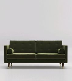 Porto Two-Seater Sofa. Celebrate artisan making at Swoon, hand-crafted designs without the inflated price tag. Scandinavian Sofas, Swoon Editions, Mid Century Style, Design Crafts, Couch, Living Room, Basement Ideas, Room Ideas, Furniture