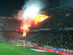 The dangerous soccer games between Sparta Praha and Slavia Praha. Hooliganism is real, but I loved it! :)