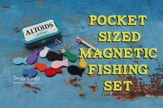 Pocket Sized Magnetic Fishing Set in Altoids tin