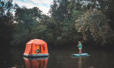 SmithFly has designed the Shoal Tent, a floating tent for drifting to sleep atop water while camping.
