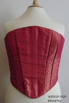 taffeta corset