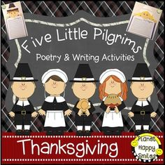 Five Little Pilgrims is a fun writing and poetry file!Your kids will have fun creating the Pilgrim writing activities about what they would do if they were a Pilgrim. They will love creating themselves as a Pilgrim Boy or Girl, and you can choose from the different writing lines/Pilgrims to create.Your students will love the Five LIttle Pilgrims poem and they can use it in a pocket chart putting it in order.