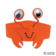 Have some under-the-sea fun anytime you please! Let your little ocean explorers create their own googly-eyed headwear with this Crab Headband Craft Kit. Crab Crafts, Vbs Crafts, Beach Crafts, Summer Crafts, Preschool Crafts, Neon Crafts, Crafts Cheap, Dinosaur Crafts, Under The Sea Crafts