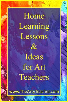 Home learning lesson ideas for art teachers. Lesson plans to email and packs to - Education interests High School Art, Middle School Art, Online Art Classes, Online Lessons, Art Online, Home Learning, Learning Resources, Art Rubric, Art Teachers