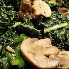 Kale and Garlicy Mushrooms