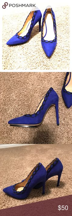 Blue stiletto pumps gx by Gwen stafani These are blue suede pumps by Gwen stefani. Worn once GX by Gwen Stefani Shoes Heels