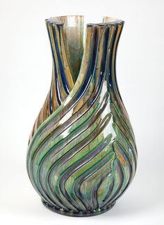 Kate Malone, A Very Large Fennel Vase by Kate Malone, 2010 Clay Vase, Ceramic Vase, Pottery Vase, Ceramic Pottery, Natural Forms Gcse, Organic Structure, Pottery Workshop, Coil Pots, Pottery Techniques