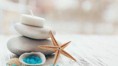 Скачать обои salt, свечи, соль, candles, stones, wellness, relax, spa, still life, спа, раздел разное в разрешении 1366x768