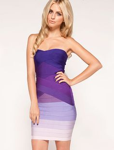 Purple Boat Neck Off the Shoulder Slim Fitted Bandage Dress - Lalalilo.com Shopping - The Best Deals on Bandage Dresses
