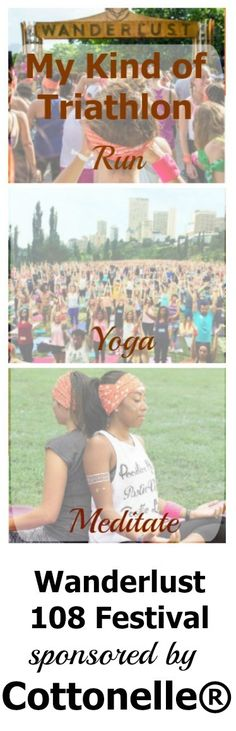 """Welcome to the triathlon of my dreams. Wanderlust 108 Festival where participants can run, yoga, meditate for their """"all three sports."""""""
