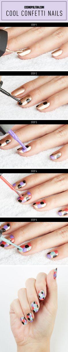 Grownup confetti nails