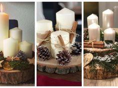 Nemáte ještě adventní věnec? Zapomeňte na klasické věnce, které rychle zvadnout: 24+ inspirací, které Vás budou těšit celé měsíce! Rustic Christmas, Christmas Wreaths, Pillar Candles, Planters, Table Decorations, Craft Things, Crafts, Home Decor, Winter