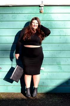 Plus size fashion styles /  beauty Bbw big beautiful woman with confidence.  Curves swag confidence and attitude. Sexy. Chubby chunky chicks