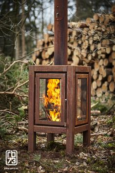 Porch Fireplace, Outdoor Fireplace Designs, Mini Wood Stove, Summer House Garden, Outdoor Stove, Fire Pit Designs, Rocket Stoves, Wood Burner, Outdoor Projects