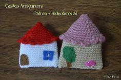 casa amigurumi crochet ganchillo patron house home amigurumi pattern videotutorial keyring keychan adorno llavero