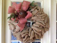 burlap christmas wreath - Google Search