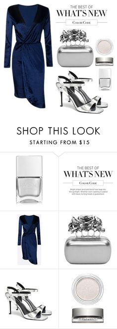 """""""Navy Dress (Win Trophy)"""" by ivana-andrejic ❤ liked on Polyvore featuring Nails Inc., Alexander McQueen, Senso and Clarins"""