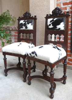 Interesting Cowhide ChairsAnother WorldInspired Home Designs