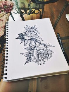 • drawing art Black and White hippie hipster boho indie Grunge draw tattoos lovely tattoo flowers nature natural floral roses pen Gipsy grounge nisha-noir •