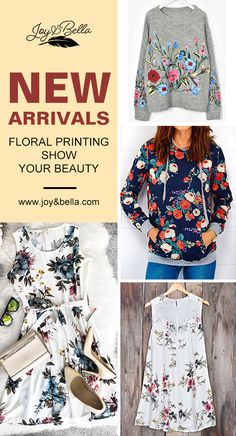 Calling all the trendsetting babes: Try the floral printing items. Touch the soft fabric and you won't want to miss them. Time to update your wardrobe. Check more at joy&bella.com