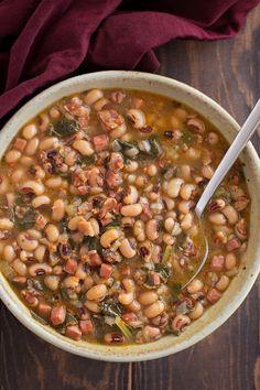 Instant Pot Black Eyed Pea Soup | lifemadesimplebakes.com