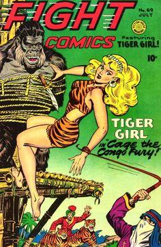 Tiger Girl  Fight Comics, 1950