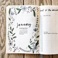 Frida (@fridastudies) on Instagram: January monthly spread Bullet Journal #diarytips