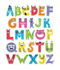 monster alphabet | Alphabet Monsters Digital Art by Andi Bird - Alphabet Monsters Fine ...