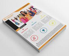 46 Clean Business Flyers Bundle by shujaktk on @creativemarket