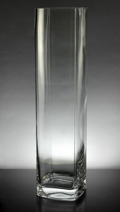 "Clear Glass Vases Square16""  Tall  $9 each / 6 for $8 each"