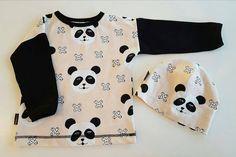 #repost @modakidz_finland -  Pandat!  nämä ovat tulossa Helsinkiin lauantaina! Paitakoot 80-110 pipot 44/46-52/54. Samasta kankaasta tulee myös tuubihuivit!  #modakidz_finland #panda #paita #pipo #easytee #lastenvaatekarnevaali #helsinki #madeinfinland