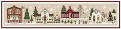 Little House Needleworks Hometown Holiday scene