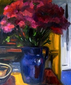 "Daily+Paintworks+-+""Dianthus+PM""+-+Original+Fine+Art+for+Sale+-+©+Carol+Steinberg"