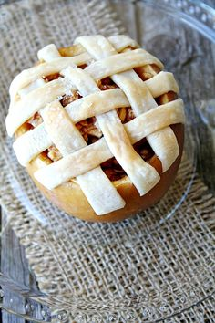 Enjoy a Baked Apple Pie in an Apple!