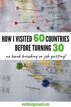 How I visited 60 countries before turning 30 without quitting my job or breaking the bank. Travel inspiration 30 before 30 travel Packing Tips For Travel, Travel Essentials, Budget Travel, Travel Hacks, Europe Packing, Traveling Europe, Traveling Tips, Backpacking Europe, Packing Lists
