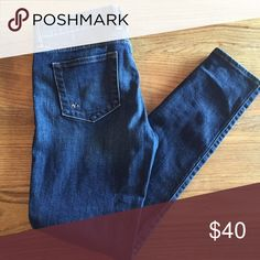 Dark wash Designer Skinnies Wore these only once! These KUT from the Kloth Skinnies are super flattering, like new, sturdy jeans! Anthropologie Pants