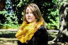 Holly Crochet Cowl Lace Infinity Scarf by courtneyannabanana