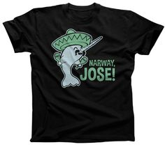 Men's Narway Jose T-Shirt - Cute Funny Narwhal Shirt. $25.00 from #Boredwalk, plus free U.S. shipping! Click to purchase!