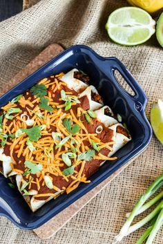 Easy Vegan Tofu & Black Bean Enchiladas - ilovevegan.com