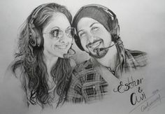 Esther and Avi Kaplan — fan art by Antonia Tuchina. OH. MY LAND. THIS PERSON IS AMAZING.