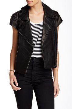 Genuine Leather Vest by Kate Spade Saturday