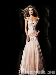 Wholesale Trumpet / Mermaid Sweetheart Floor-length Ruffles Organza Military Ball Dresses